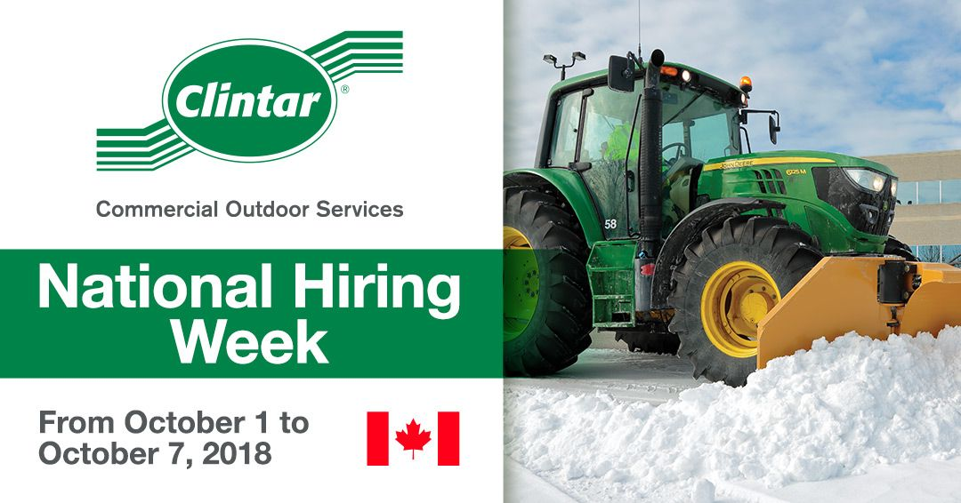 Clintar National Hiring Week 2018 Canada