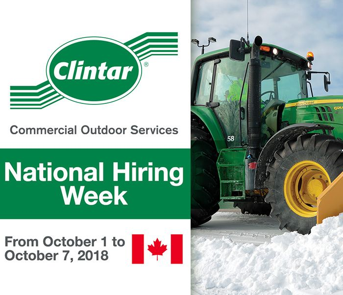 Clintar National Hiring Week October 2018