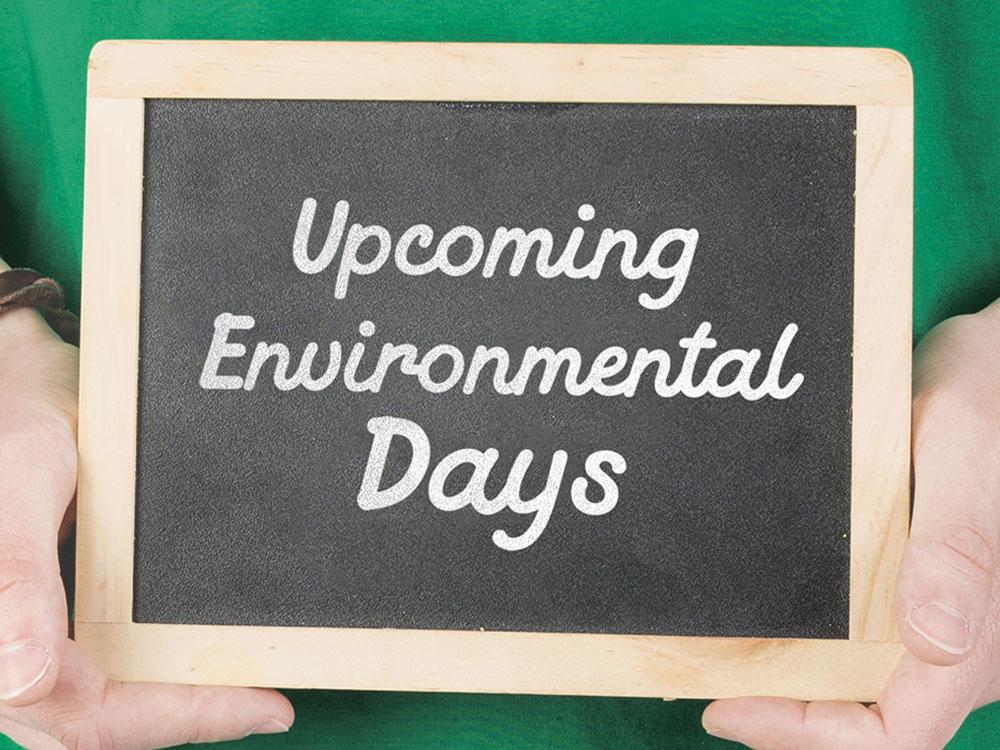 Upcoming Environmental Days