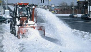 Snow Plow clearing