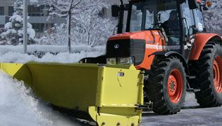 Parking Lot Snow Plow clearing